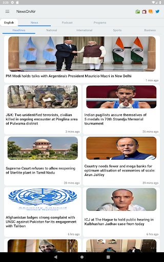 NewsOnAir: Prasar Bharati Official App News+Live 30 Screenshots 9