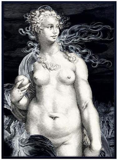 White lady poster 70x100