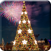 2018 Christmas Tree Fireworks Lamp Live Wallpaper