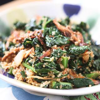 BBQ Chicken, Kale and Quinoa Bowl