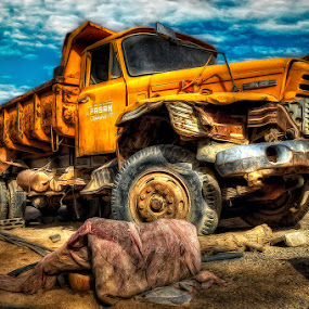 Old Dump Truck by Eewoj Alcala - Transportation Other ( hdr )