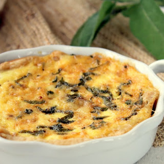 Brown Butter, Sage and Parmesan Quiche