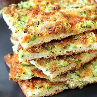 Pizza Zucchine | Zucchini Pizza with Gruyère Cheese