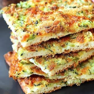 Pizza Zucchine | Zucchini Pizza with Gruyère Cheese.