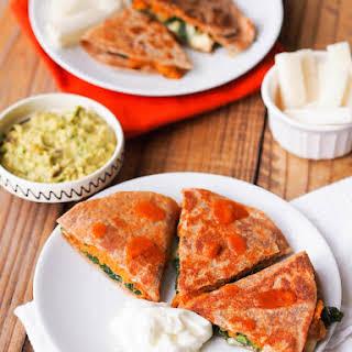 Sweet Potato, Kale & Brie Quesadilla.