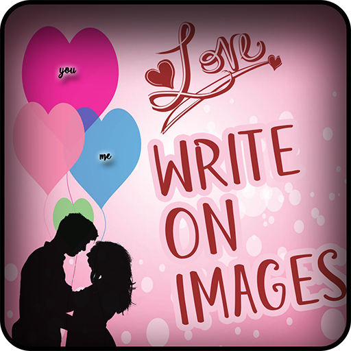 Write Name and photo on love frames icon