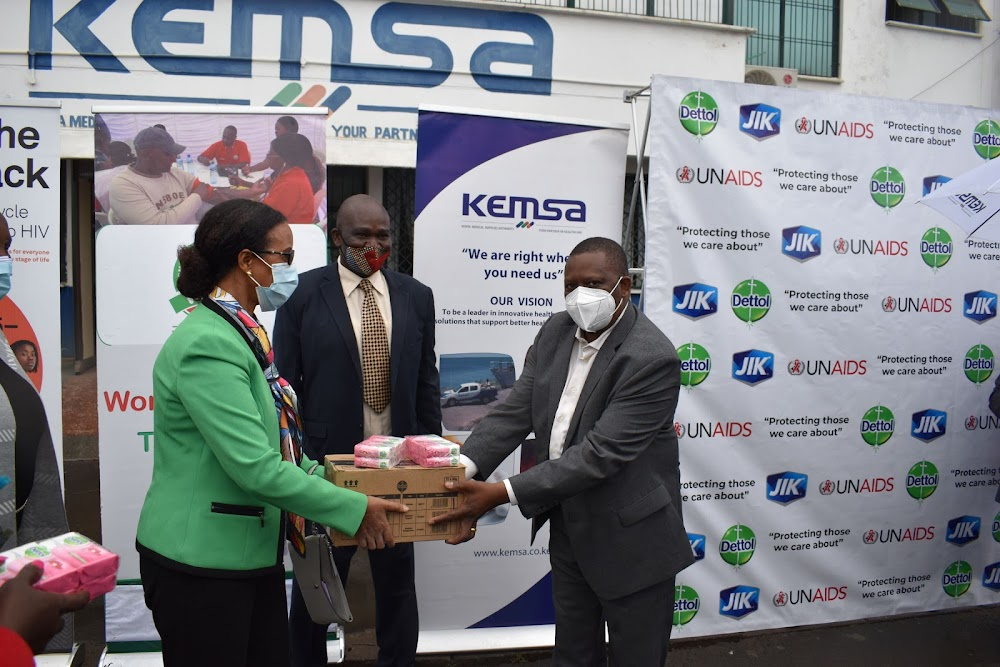 Kemsa gets Sh20m hygiene packs to support HIV patients