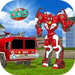 Real Robot Firefighter Truck : Robot Super Truck Icon