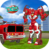 Real Robot Firefighter Truck : Robot Super Truck