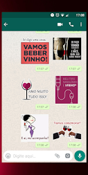 Figurinhas de vinho - WhatsApp WAStickerApps APK screenshot thumbnail 4