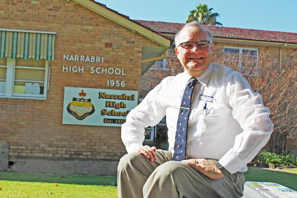 IN CHARGE: Dinos Charalambous is now acting principal at Narrabri High School.