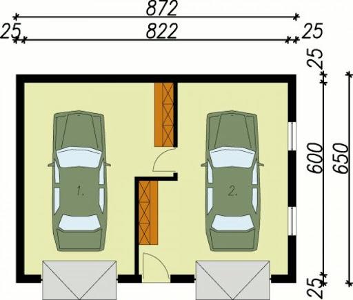 G15 - Rzut garażu