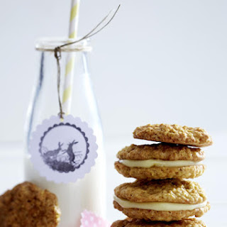 Carrot Cake Cookies with Eggnog Cream Filling.