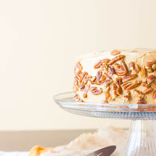 3 Layer Pumpkin Cake with Maple Frosting
