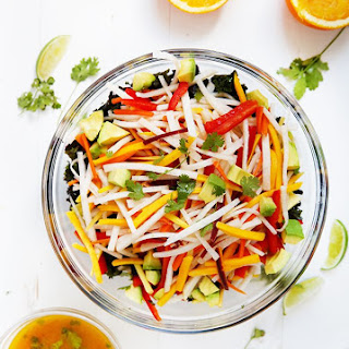 Jicama Kale Salad with Orange Lime Dressing