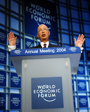 Photo: DAVOS/SWITZERLAND, 21JAN04 - Klaus Schwab, Founder and Executive Chairman, World Economic Forum, adresses the audience during the Welcome to the Annual Meeting 2004 of the World Economic Forum in Davos, Switzerland, January 21, 2004. 