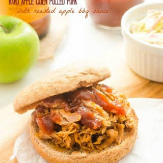 Hard Apple Cider Pulled Pork with Roasted Apple Barbecue Sauce.