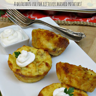 Cheesy Potato Muffins | Use Up Those Leftover Mashed Potatoes!.