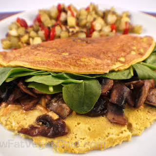 Low Fat Vegan Silken Tofu Omelet.