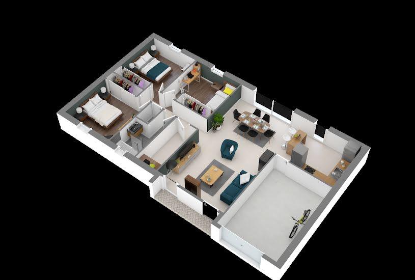 Vente Terrain + Maison - Terrain : 658m² - Maison : 89m² à Le Pin-en-Mauges (49110)