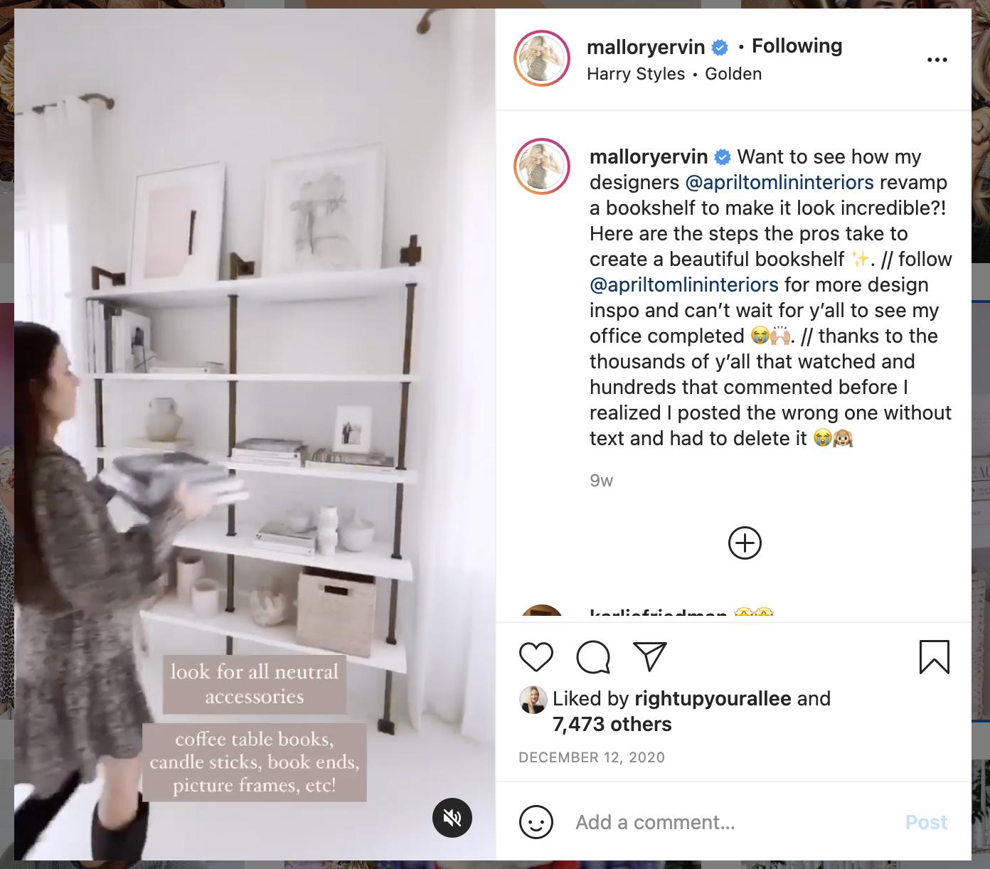Instagram behind the scenes post
