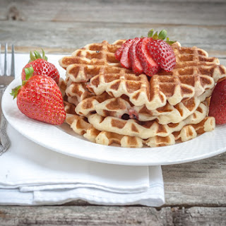 Gluten Free Waffles with Strawberries