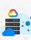 image of server with google cloud logo on top