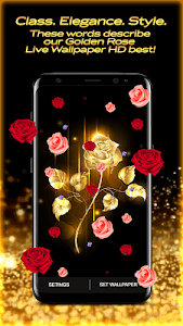 Golden Rose Live Wallpaper HD 1.3