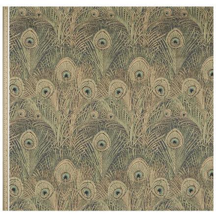 Hera Feather Vintage Velvet in Jade från Liberty Fabrics Interiors