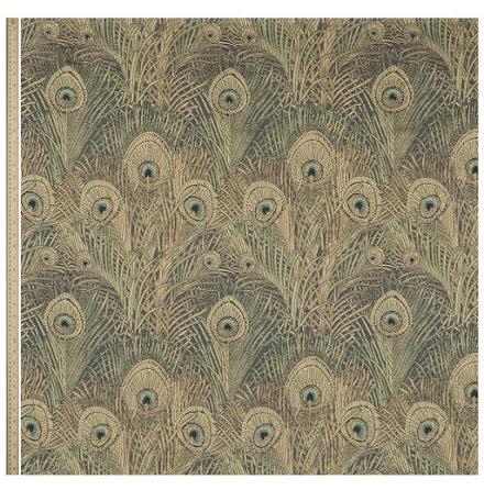 Hera Feather Vintage Velvet in Jade från Liberty Interior Fabrics