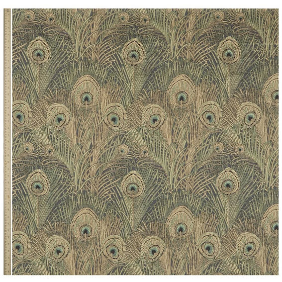 Hera Feather Vintage Velvet in Jade från Liberty Interior Fabrics
