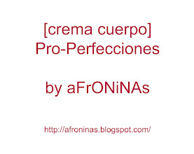 Photo: Crema Pro-Perfecciones