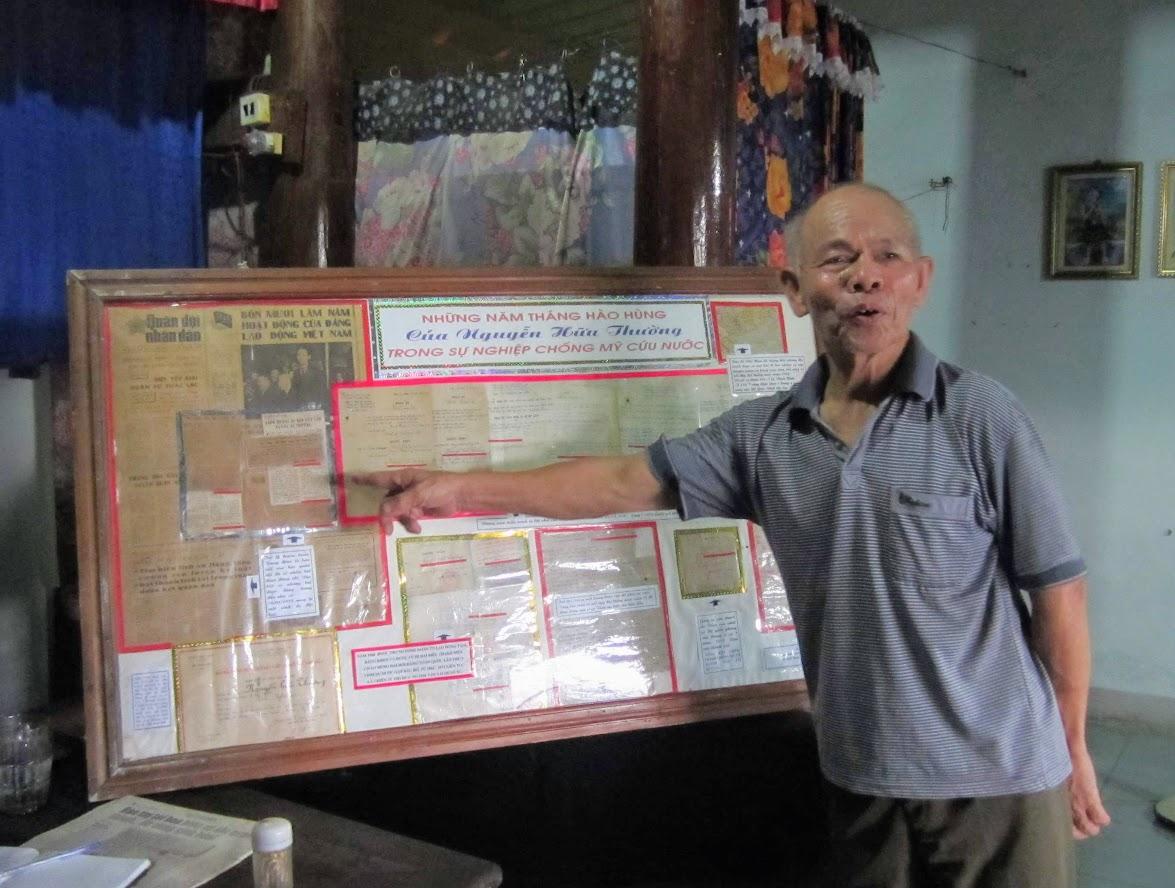 Những đồ vật kỷ niệm về chiến tranh được ông  Nguyễn Hữu Thường lưu giữ cẩn thẩn