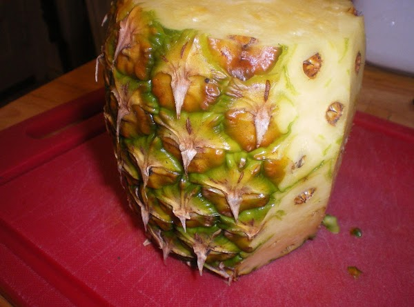 Peel, core, and chop pineapple.