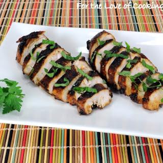 Balsamic, Garlic, and Basil Marinated Chicken Breasts Recipe