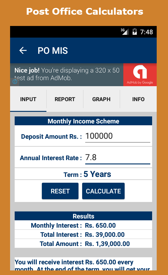 post office fixed deposit interest rates 2012 calculator