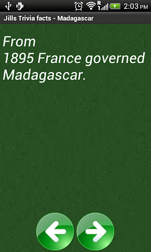 Jill's Trivia facts:Madagascar