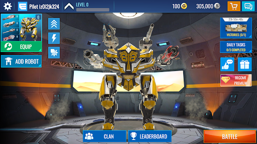 Code Triche Mech Wars: Multiplayer Robots Battle APK MOD (Astuce) screenshots 1
