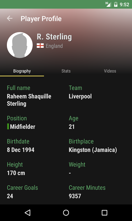 The Soccer Livescore App - screenshot