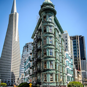 Sentinel and the Pyramid by Dee Zunker - Buildings & Architecture Office Buildings & Hotels ( sentinel building, san francisco )