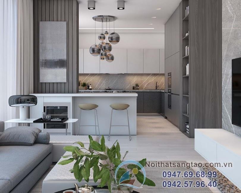 thiết kế nội thất chung cư asn tượng