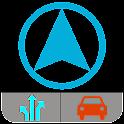 Itinéraire GPS navigation hors icon