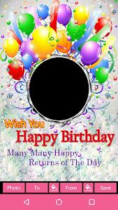 Birthday Wishes Photo Frames Screenshot 0 1