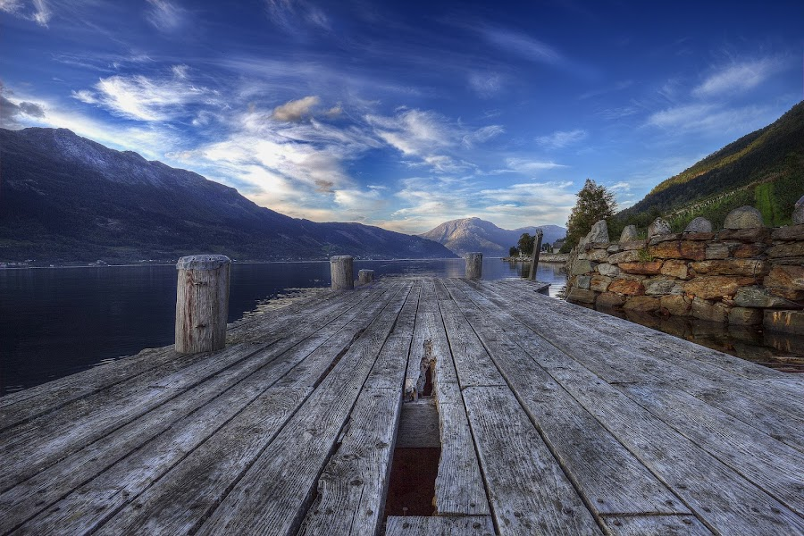 The Pier by Sigbjørn Fjellheim - Landscapes Cloud Formations ( hardanger )