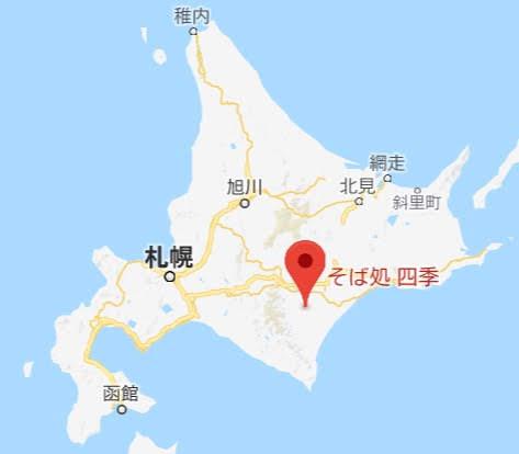 地図:そば処 四季