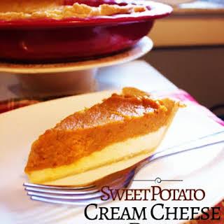 Sweet Potato Cream Cheese Pie.