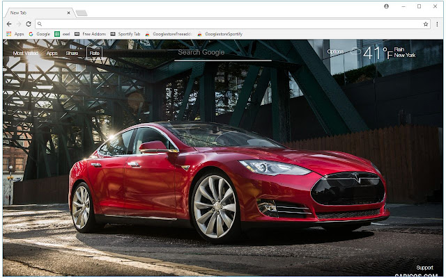 Tesla Wallpaper Cars New Tab Themes