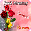 Good morning flowers roses images HD Gifs 4K icon