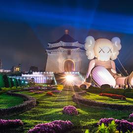 是怎樣的夜晚,點綴著花草繽紛,讓人Party浪漫了起來 by Gary Lu - City,  Street & Park  City Parks ( city parks, gary lu )