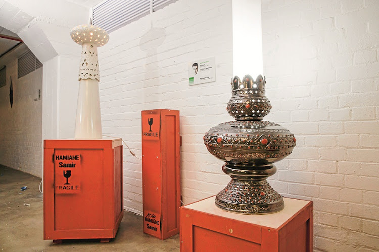 Samir Hamiane's ornate ceramic Quinquet lamp in thermoforming. Picture: Supplied